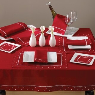 Angelina Collection Embroidered Towel With Dotted Border (Set of 4)