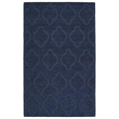 "Trends Navy Prints Wool Rug - 3'6"" x 5'6"""