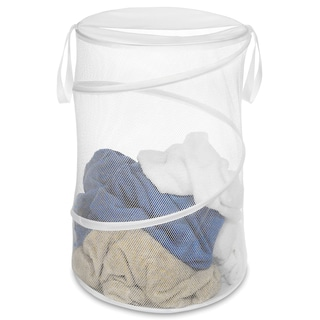 Whitmor 6233-1160-WHT White Collapsible Hamper