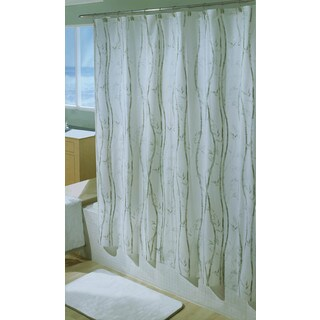 Excell 1ME-40O-3066 Bamboo Vinyl Shower Curtain