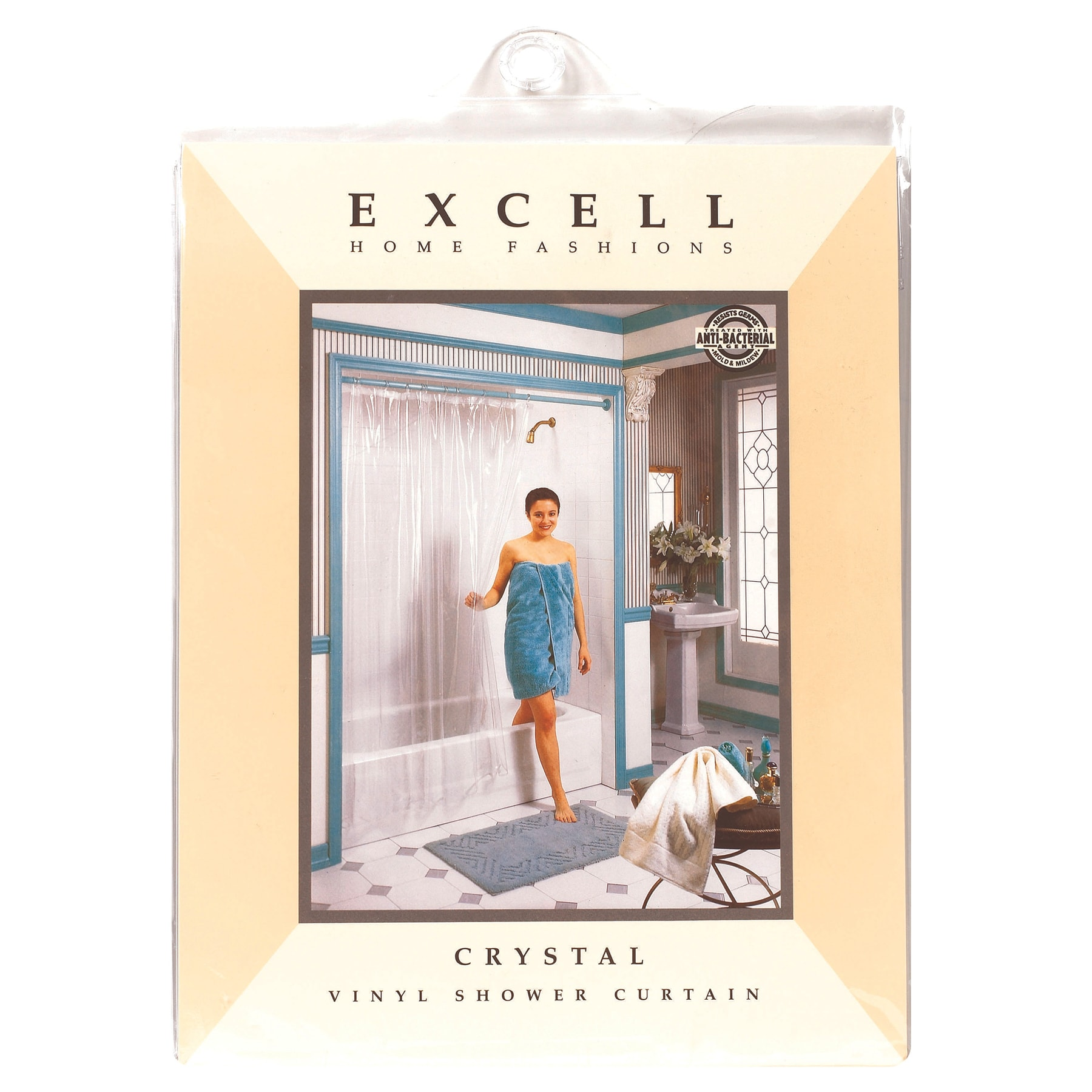 Excell 1ME-40O-649-960 Crystal Vinyl Shower Curtain (Curt...
