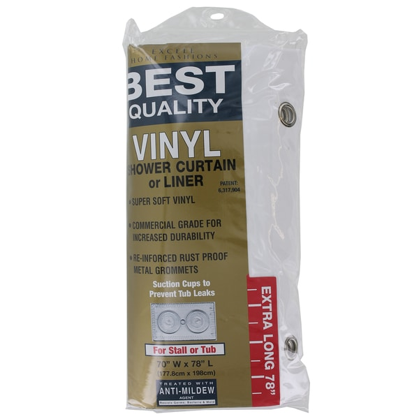 Shop Excell 1me 48o 899 100 70 X 78 Vinyl Shower Curtain Or Liner