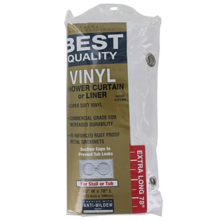 """Excell 1ME-48O-899-100 70"""" x 78"""" Vinyl Shower Curtain Or Liner"""