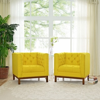 Panache Living Room Fabric Armchairs (Set of 2)