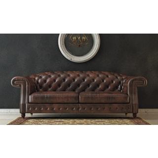 Darlington Brown Top Grain Leather Sofa