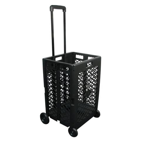 """Olympia Tools 85-404 24.25"""" L X 17.72"""" W X 15.75"""" Black Mesh Wheeled Cart"""