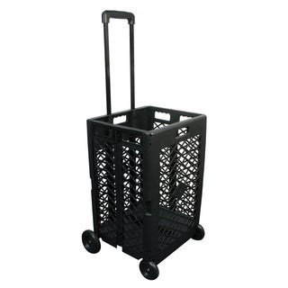 "Olympia Tools 85-404 24.25"" L X 17.72"" W X 15.75"" Black Mesh Wheeled Cart"