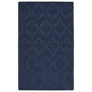 Trends Navy Prints Wool Rug (8'0 x 11'0)