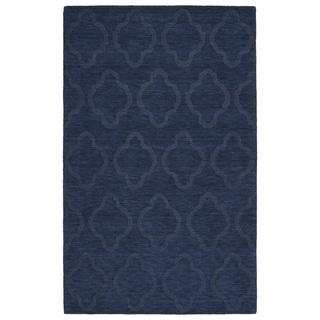 Trends Navy Prints Wool Rug (8'0 x 11'0) - 8' x 11'