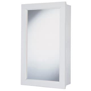 "Hardware House 419200 16"" White Aspen Medicine Cabinet"