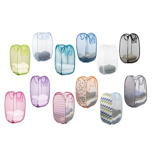 Sunbeam Nylon Mesh Pop-up Laundry Hamper with Carry Handles (Set of 2)