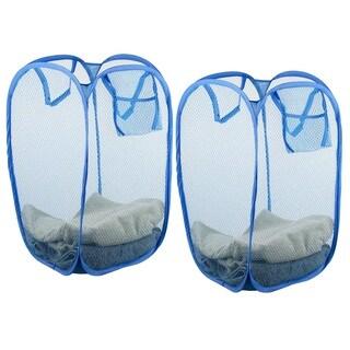 Sunbeam Nylon Mesh Pop-up Laundry Hamper with Carry Handles (Set of 2)