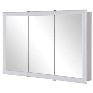 "Hardware House 419242 48"" White Aspen Medicine Cabinet"