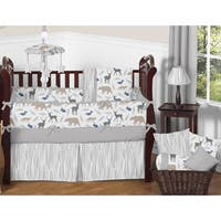 Sweet Jojo Designs Woodland Animals Collection Multicolored 9-piece Crib Bedding Set