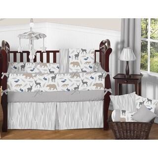 Sweet Jojo Designs Woodland Animals Collection Multicolored 9-piece Crib Bedding Set