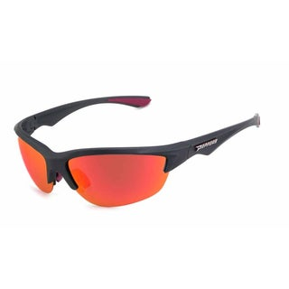 Peppers MPP554-45 Rimless Brown TAC-Tical Polarized with Fire Red Mirror Sunglasses