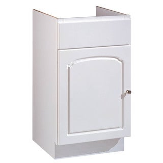 "Hardware House 419754 18"" X 16"" White Aspen One Door Vanity"