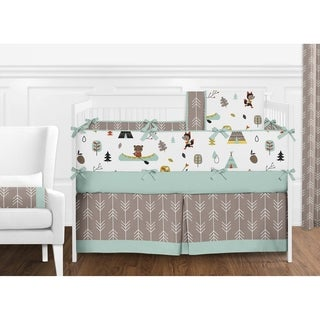 Sweet Jojo Designs Outdoor Adventure Collection Cotton 9-piece Crib Bedding Set