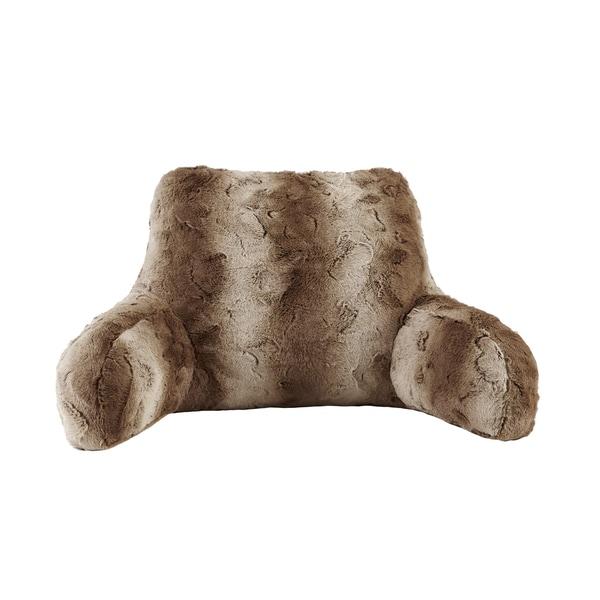 Madison Park Marselle Faux Fur Backrest Pillow 3-Color Options