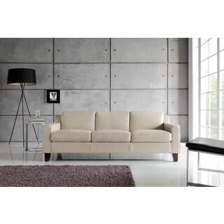 Cora Taupe Top Grain Leather Sofa