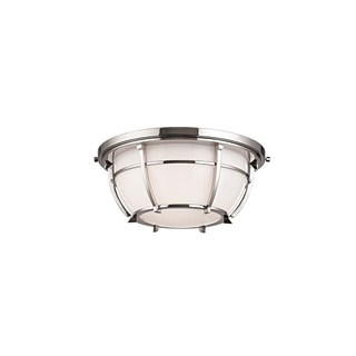 Hudson Valley Conrad 12-inch Polished Nickel Flush Mount