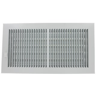 """American Metal Products 356W12X4 12"""" X 4"""" White Steel Wall Diffusers 1/3"""" Grille Bar"""