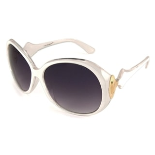 UrbanSpecs NY3602-WHT Round Grey Sunglasses
