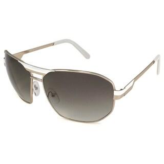 UrbanSpecs NY6000-WHTGLD Aviator Grey Gradient Sunglasses