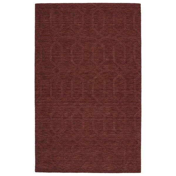 Trends Cinnamon Pop Wool Rug (2'0 x 3'0)