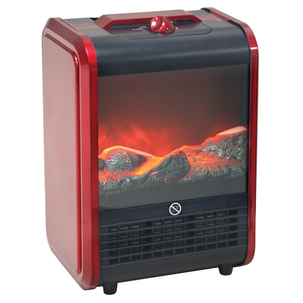 Shop Portable Fireplace Heater Free Shipping Today Overstock Com