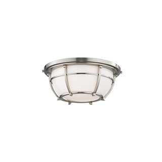 Hudson Valley Conrad 12-inch Satin Nickel Flush Mount
