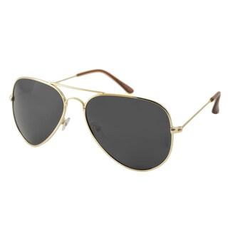 UrbanSpecs NYS77PL-GLDB Aviator Brown Sunglasses