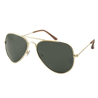 UrbanSpecs NYS77PL-GLDGN Aviator reen Sunglasses