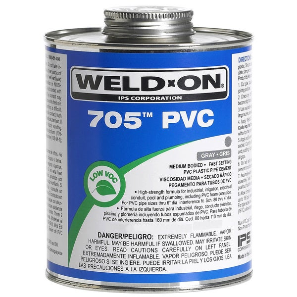 Ips Weldon 10094 1 Pint Gray 705 PVC Cement