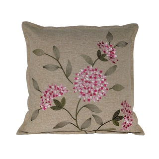Serenta Faux Linen Embroidery Decorative Throw Pillow (Set of 2)