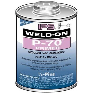 Ips Weldon 10227 1/2 Pint PVC Primer Purple