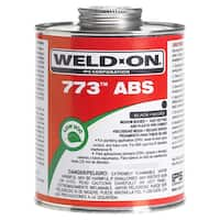 Ips Weldon 10246 1/4 Pint Black 773 ABS Plastic Pipe Cement