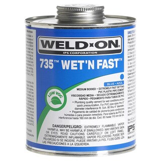 Ips Weldon 12498 1/4 Pint Blue 735 Wet 'N Fast