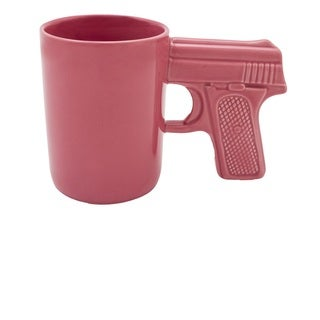 AGS Brand Pink Ceramic 16.9-ounce Gun Mug (Set of 2)
