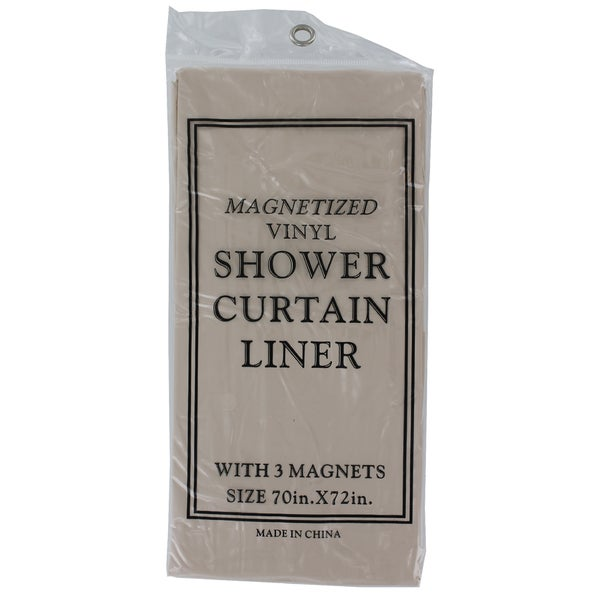 J Amp M Home Fashions 7616 Bone Magnetic Shower Liner