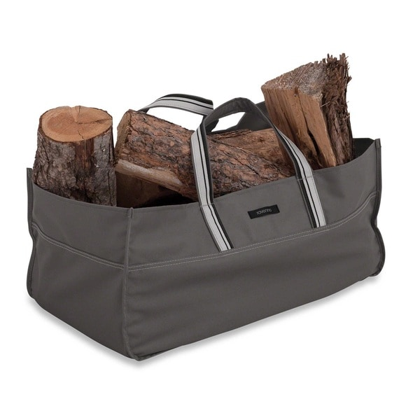 Classic Accessories Ravenna Grey Polyester Jumbo Log Carrier