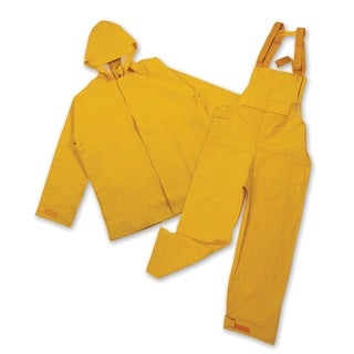 Stansport Yellow PVC/Polyester Commercial Rain Suit
