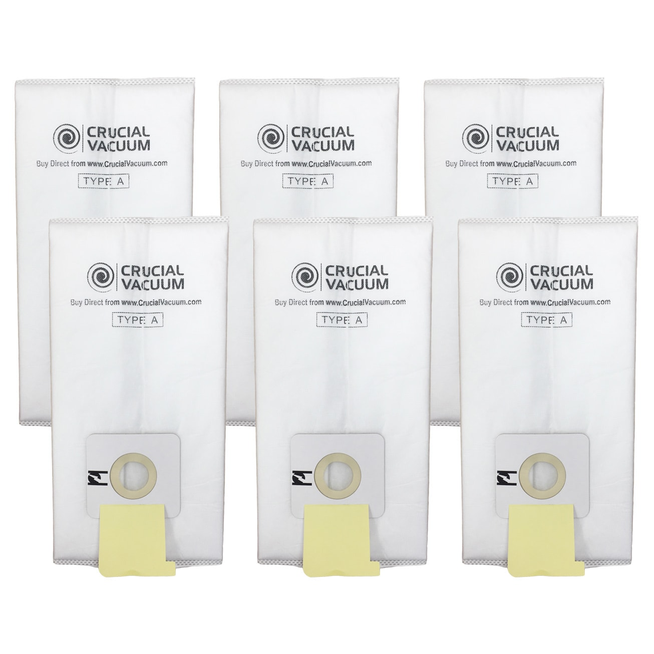 Crucial Simplicity White Cotton Vacuum Bags (6 Pack) (vac...