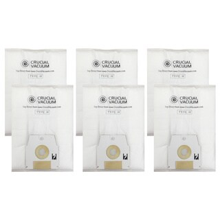 Simplicity Cloth H White Cotton Vacuum Bags (Pack of 6)