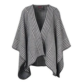 IBENA Pure Cotton Houndstooth Blanket Poncho