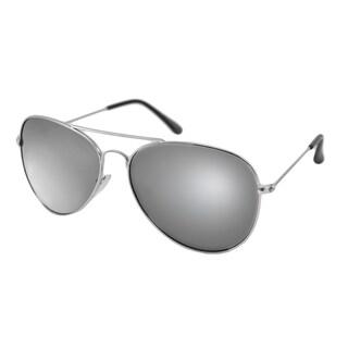 UrbanSpecs NYS6625RV- SLV Aviator Gray with Silver Mirror Sunglasses