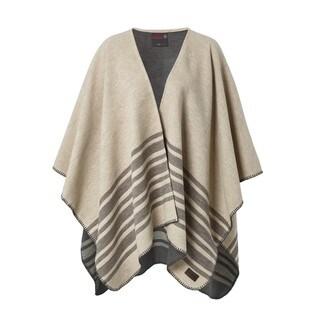 Pure Cotton Twill Striped Blanket Poncho