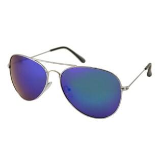 UrbanSpecs NYS6625RV-SGRN Metal Aviator Sunglasses
