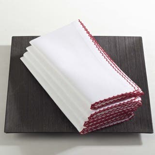 Recotting Collection Whip Stitched Design Napkin (Set of 4)|https://ak1.ostkcdn.com/images/products/12489455/P19299419.jpg?impolicy=medium
