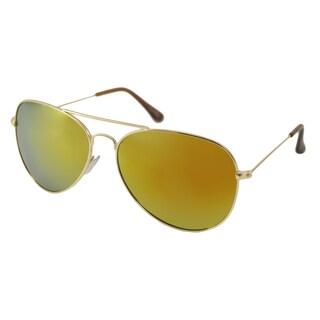 UrbanSpecs NYS6625RV-GLD Metal Aviator Sunglasses